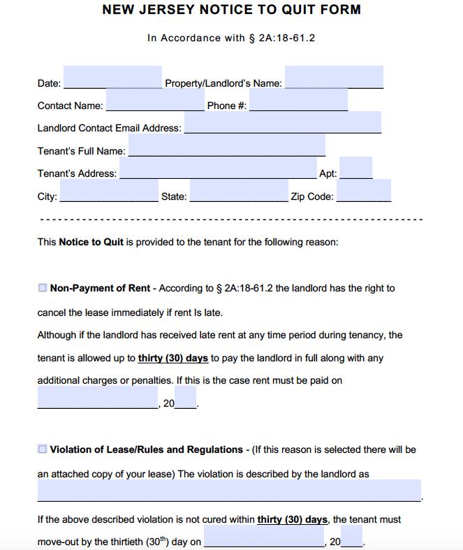 Free new jersey notice to quit pdf adobe pdf altavistaventures Image collections